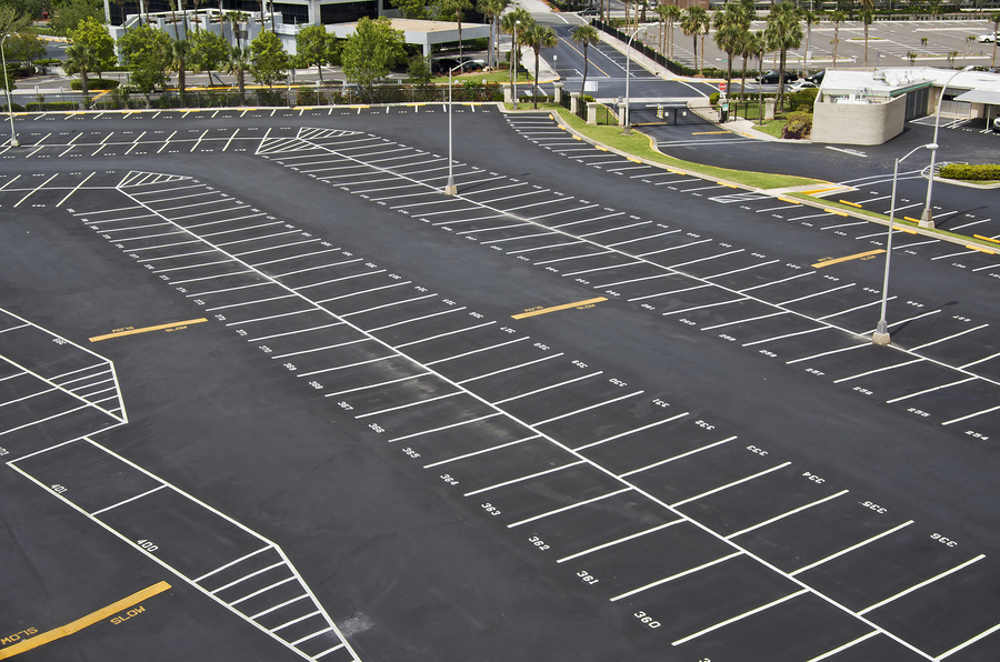 Construction Project Almost Complete - Finished With Parking Markings