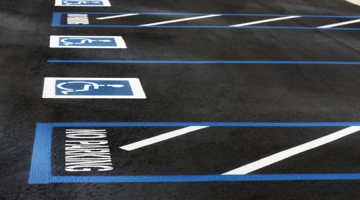 ADA parking striping