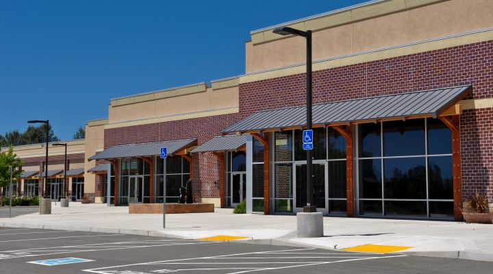 commercial property with ADA compliant parking spaces