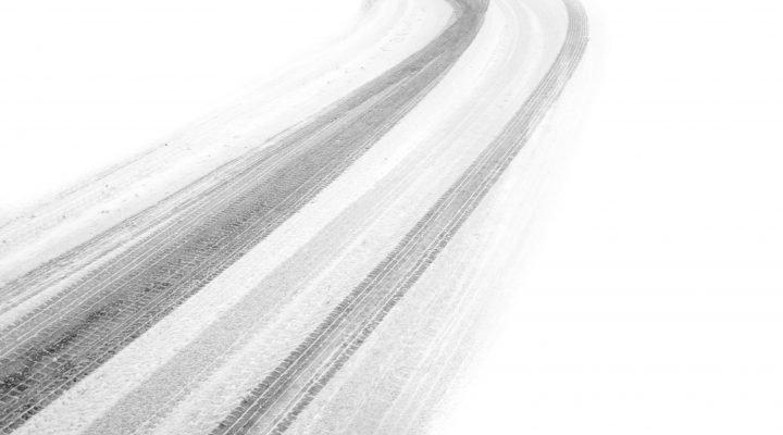 asphalt with snow