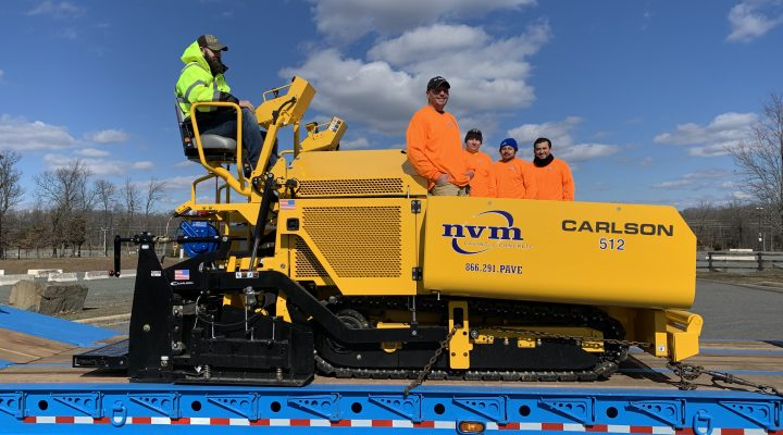 NVM team at a commercial paving project