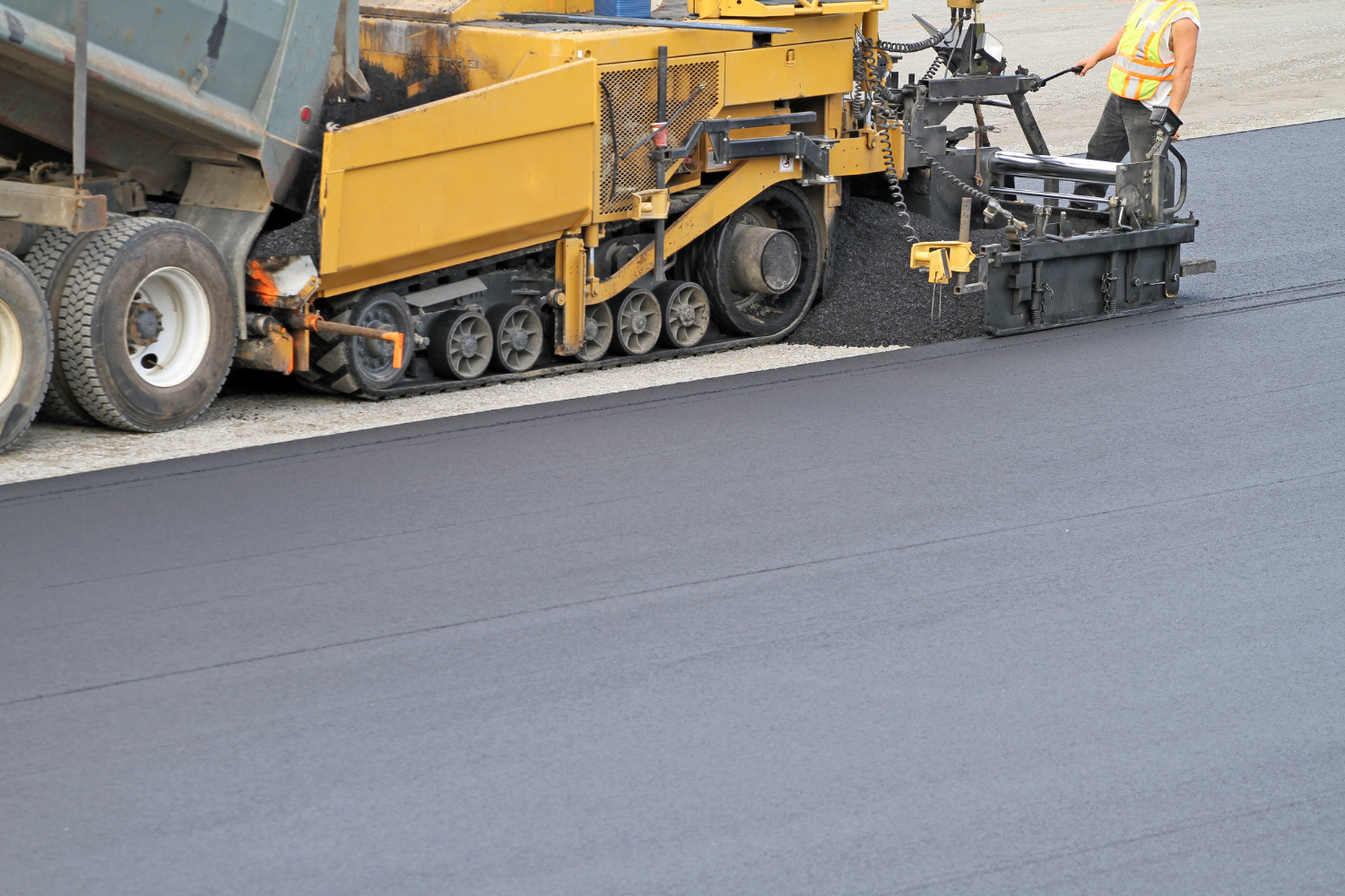 paving project in the summer